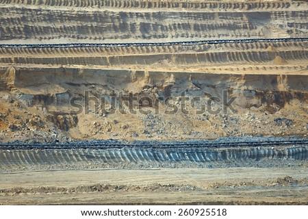 Mining layers - stock photo