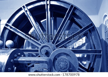 Mining machinery and equipment in the factory, close-up pictures  - stock photo