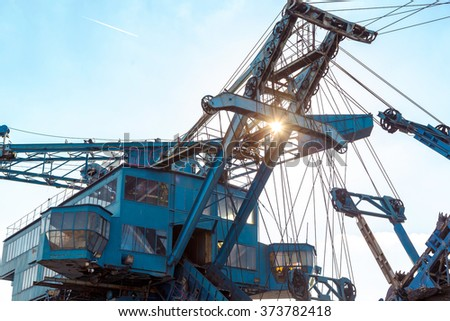 Mining machinery in the mine - stock photo