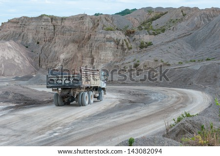 Mining.Truck.Working in mine. - stock photo