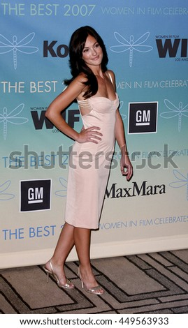 Minka Kelly at the Women In Film Presents The 2007 Crystal and Lucy Awards held at the Beverly Hilton Hotel in Beverly Hills, USA on June 14, 2007.