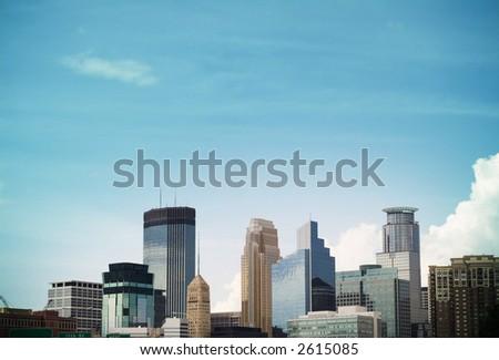 minneapolis skyline - stock photo