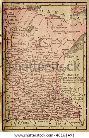 Minnesota, circa 1880. See the entire map collection: http://www.shutterstock.com/sets/22217-maps.html?rid=70583