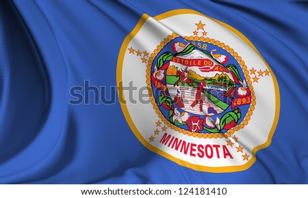 Minnesota flag - USA state flags collection no_3 - stock photo