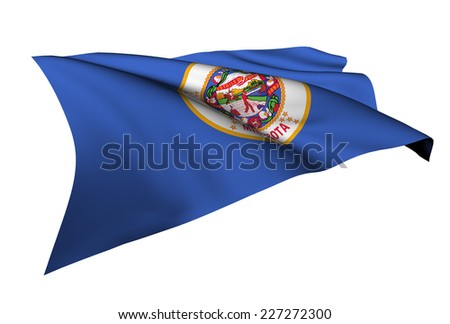 Minnesota flag - USA state flags collection no_4  - stock photo