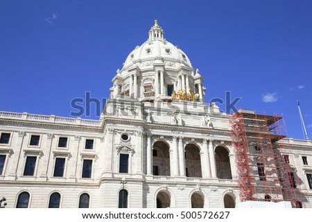 Minnesota state capital. Minnesota is a state in the Midwestern United States. Minnesota was admitted as the 32nd state on May 11, 1858, created from the eastern half of the Minnesota Territory.