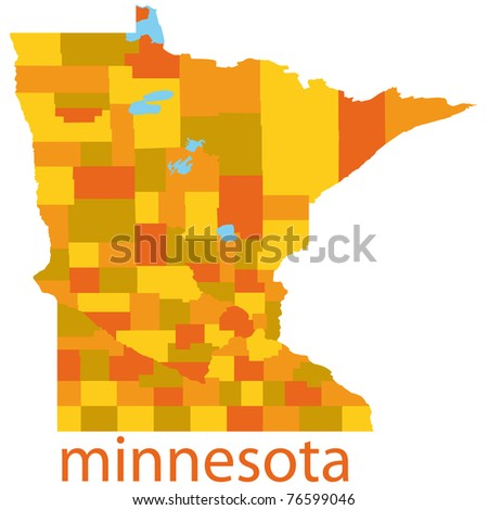 Minnesota State Map Usa Stock Vector Shutterstock - State map of usa