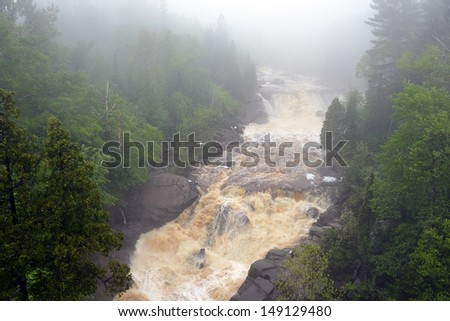 Minnesota waterfall - stock photo