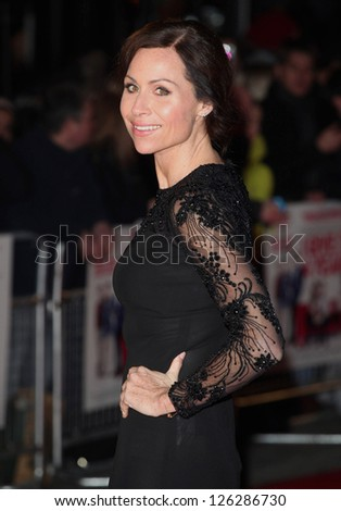 Minnie Driver arriving for the 'I Give It A Year' premiere, at the Vue Leicester Square, London. 24/01/2013 Picture by: Alexandra Glen / Featureflash - stock photo