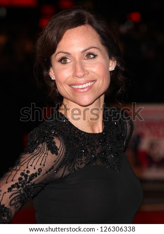 Minnie Driver arriving for the 'I Give It A Year' premiere, at the Vue Leicester Square, London. 24/01/2013 Picture by: Alexandra Glen - stock photo