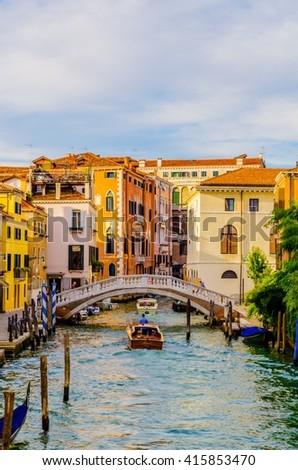 minor channel near piazza san marco square in Venice, italy - stock photo