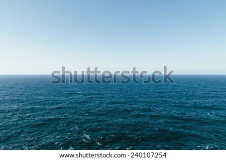 Minorca Horizon Sea, Spain - stock photo