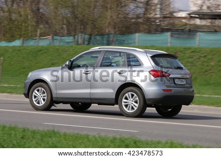 MINSK, BELARUS APRIL 7, 2016: New Zotye T600 at the test drive event for automotive journalists from Minsk