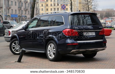 MINSK, BELARUS - DECEMBER 08, 2015: Full-size luxury SUV Mercedes-Benz GL-Class