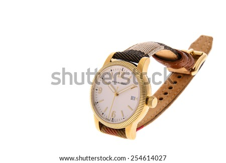 Minsk, Belarus - February 12, 2015: Burberry Women's Watches Isolated
