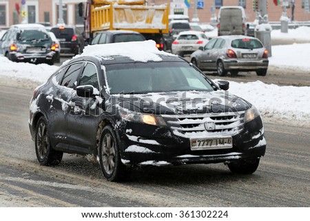 MINSK, BELARUS - JANUARY 12, 2016: Honda Accord Crosstour