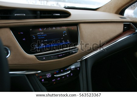 MINSK, BELARUS JANUARY 21, 2017: New Cadillac XT5 V6 AWD at the test drive event for automotive journalists from Minsk