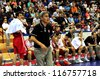 MINSK, BELARUS SEPTEMBER 2:Turkey national team coaching staff during European Championship qualifying match (Belarus-Turkey) on September 2, 2012 in Minsk, Belarus. - stock photo