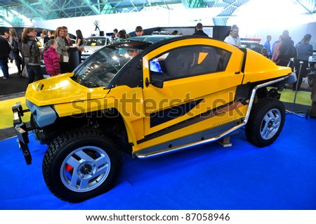 MINSK - SEPTEMBER 24: Unidentified BUGGY at the 2011 MOTORSHOW, an International auto exhibition on September 24, 2011 in Minsk, Belarus.
