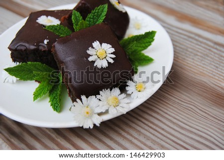 Mint Chocolate Cake whit candy Daysi