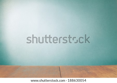 Mint green gradient wall background - stock photo