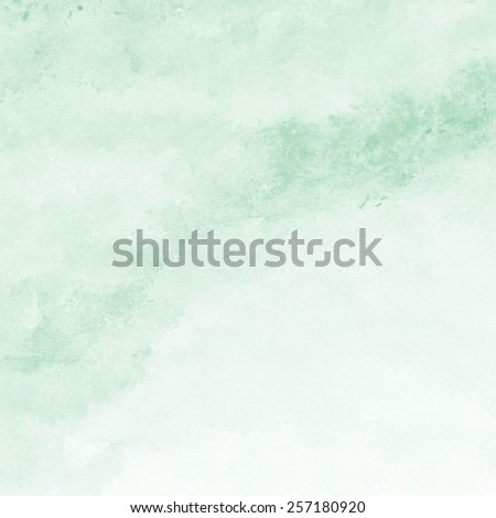 mint green watercolor texture background, hand painted - stock photo