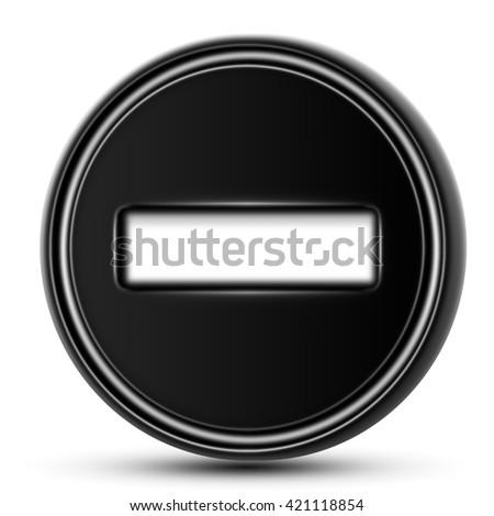 Minus - stock photo