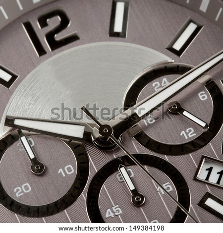 minute time in watch background - stock photo