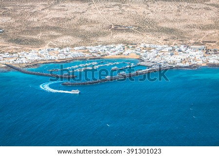 Mirador del Rio in Lanzarote, Canary Islands, Spain