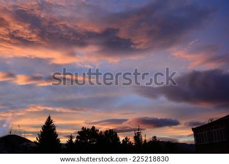 Mirage sunset - stock photo
