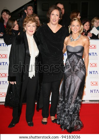 Miranda Hart and cast arriving for the National Television Awards, O2, London. 25/01/2012 Picture by: Alexandra Glen / Featureflash