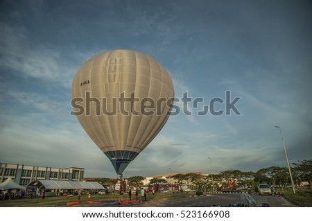 MIRI, SARAWAK. NOVEMBER 26, 2016: Hot air balloon during Naim Lifestyle Expo in Miri, Sarawak, East Malaysia. Borneo.  The expo will focus on lifestyle and investment enhancement.