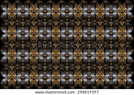 Mirror ball pattern design isolated with blur background.