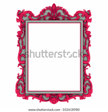 mirror frame - stock photo