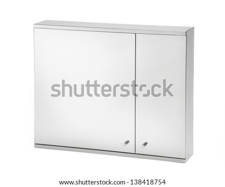 mirror isolated on white background - stock photo