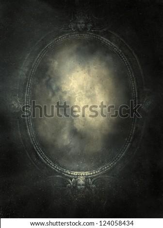 Mirror, mixed media - stock photo