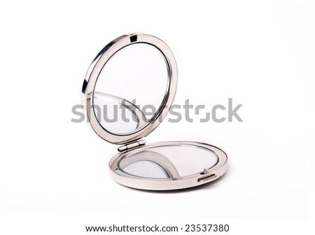 Mirror on a white background - stock photo