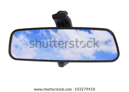 Mirror's car on white background - stock photo