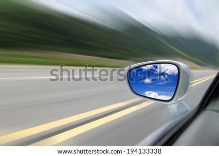 Mirrors highway - stock photo