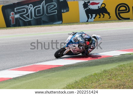MISANO ADRIATICO, ITALY - JUNE 21: BMW S1000 RR EVO of BMW Team Toth, driven by SEBESTYEN Peter in action during the Superbike Free Practice 4th Session during the FIM Superbike World Championship