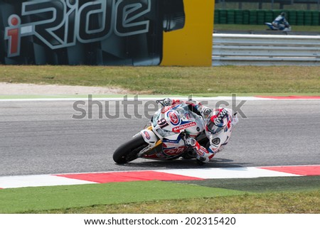 MISANO ADRIATICO, ITALY - JUNE 21: Honda CBR1000RR of Team PATA Honda World Superbike, driven by HASLAM Leon in action during the Superbike Free Practice 4th Session during the FIM Superbike World