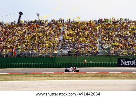 MISANO - ITALY, SEPTEMBER 11: Colombian Ducati rider Yonny Hernandez at 2016 TIM MotoGP of San Marino at Marco Simoncelli circuit in Misano on September 11, 2016