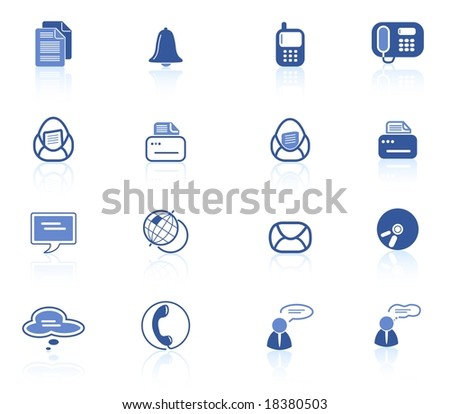 Miscellaneous office and communication raster icons. Vector version is available in my portfolio