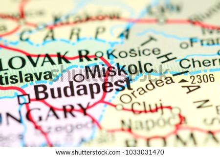 Miskolc Hungary On Map Stock Photo 1033031470 Shutterstock