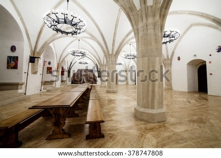 MISKOLC - MARCH 22: inside castle of diosgyor March 22, 2015 in Miskolc, Hungary.