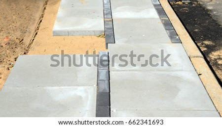 Mismatch in flagstone sidewalk  They began placing the flagstones from each  and and met hereFlagstone Stock Images  Royalty Free Images   Vectors   Shutterstock. Flagstone Sidewalk Pictures. Home Design Ideas