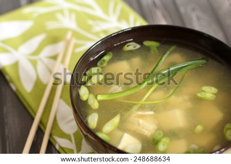 Miso soup - stock photo