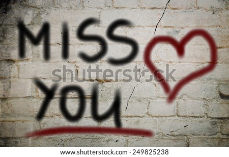 Miss You Concept - stock photo
