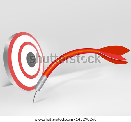 missed target - stock photo