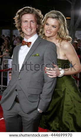 Missi Pyle and Josh Meyers at the Los Angeles premiere of 'Just My Luck' held at the Mann National Theater in Westwood, USA on May 9, 2006.